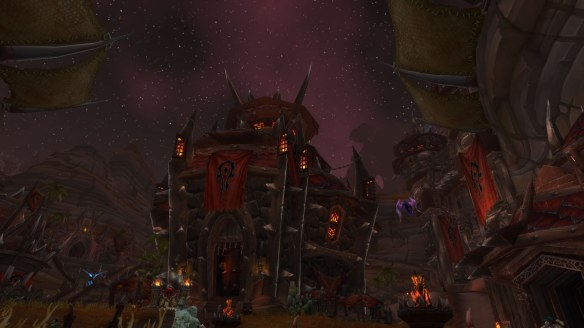 Orgrimmar at night in World of Warcraft