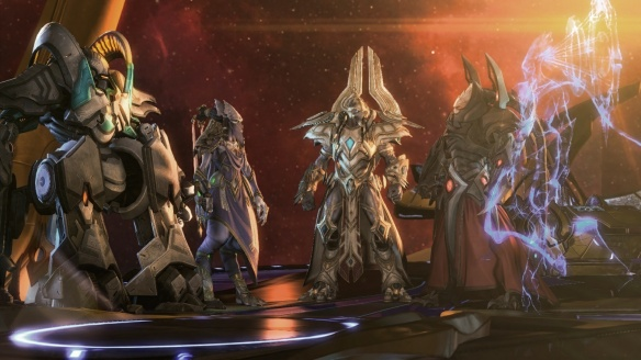 A council of Protoss leaders in StarCraft II: Legacy of the Void