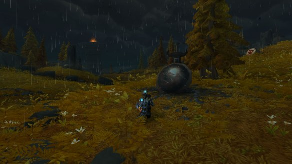 The rain pours down in Stormheim in World of Warcraft: Legion