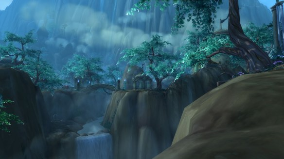The Suramar zone in World of Warcraft: Legion