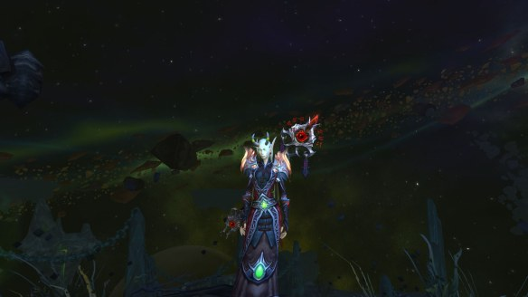My warlock and the Scepter of Sargeras in World of Warcraft: Legion