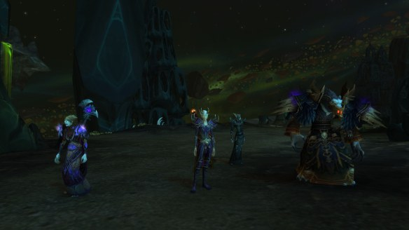 My warlock adventures with the Council of the Black Harvest in World of Warcraft: Legion