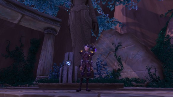 My warlock's new outfit in World of Warcraft: Legion