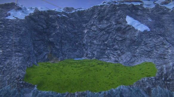 The base terrain of my second build in Landmark