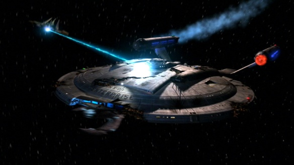 A screenshot from the Enterprise episode