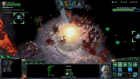 Calling down the thunder as Nova in StarCraft II's co-op