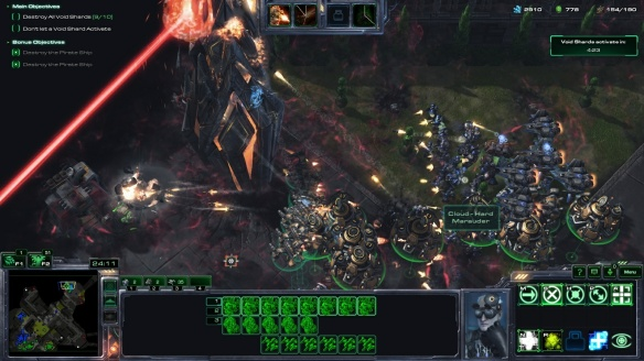Playing Swann in co-op in StarCraft II: Legacy of the Void