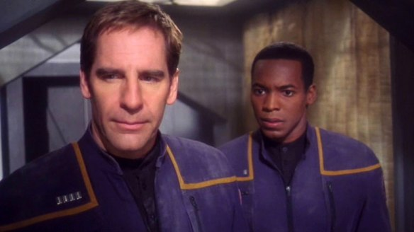 Archer and Mayweather in the Enterprise episode