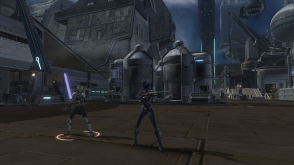 My Imperial agent and Lana Beniko in Star Wars: The Old Republic's Knights of the Fallen Empire expansion