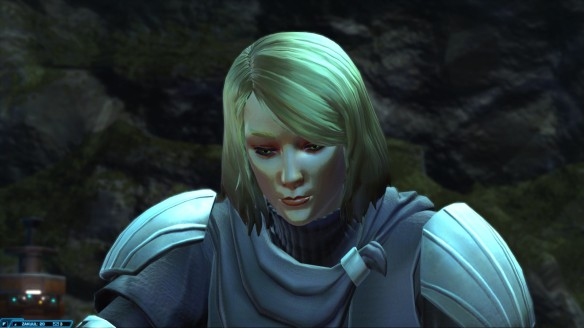 Lana Beniko in Star Wars: The Old Republic's Knights of the Fallen Empire expansion