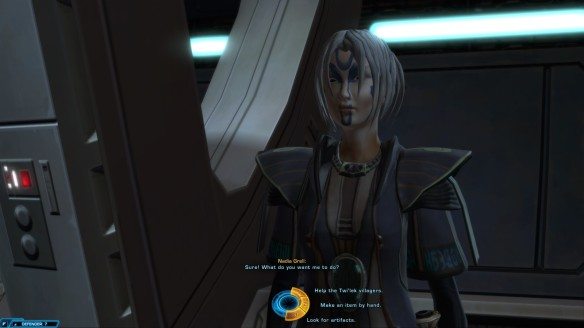 A conversation with Nadia Grell in Star Wars: The Old Republic