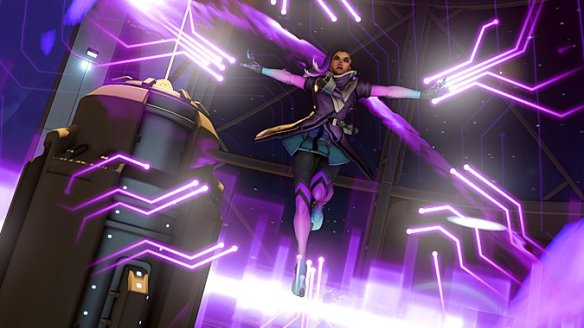 A promotional image of Overwatch's sombra