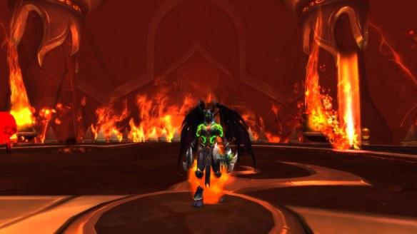 My demon hunter in the havoc metamorphosis form in World of Warcraft: Legion