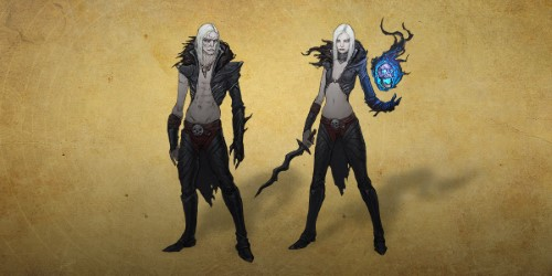 Concept art for Diablo III's new necromancer class