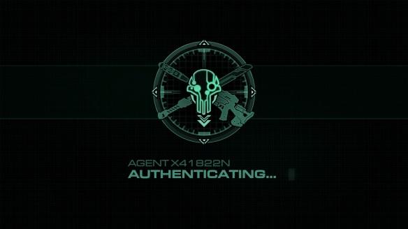 Nova's log-in screen from StarCraft II's Nova Covert Ops DLC