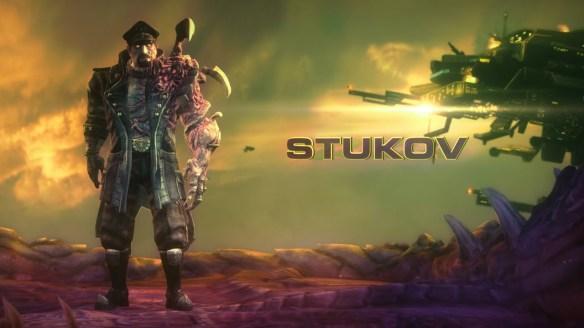 A promotional image of co-op commander Alexei Stukov in StarCraft II