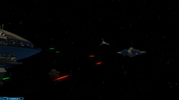 A space battle in the trooper story in Star Wars: The Old Republic