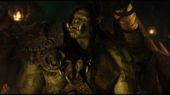 Grom Hellscream in a deleted scene from the Warcraft film