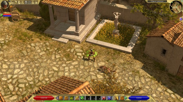 A Greek town in Titan Quest