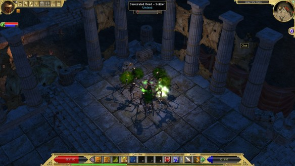 Battling skeletons in Titan Quest