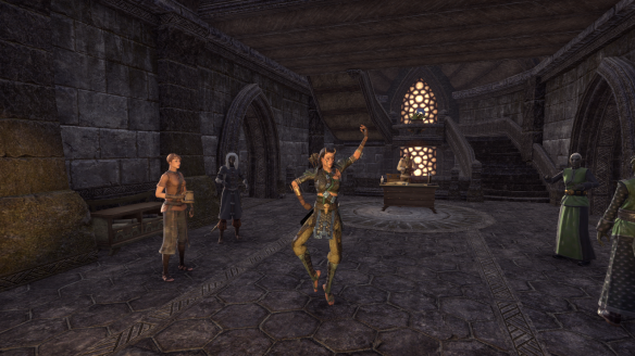 My character dancing as part of the New Life Festival event in Elder Scrolls Online