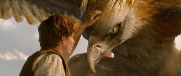 Newt Scamander and one of his animals in Fanatstic Beasts and Where to Find Them
