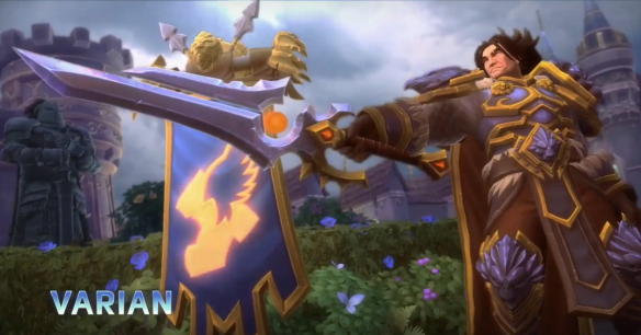 A promotional image of Varian Wrynn in Heroes of the Storm
