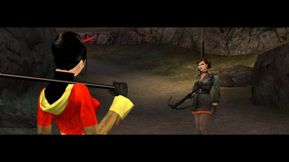 Cate and Isako in No One Lives Forever 2: A Spy in H.A.R.M.'s Way