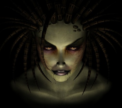 Art of The Queen of Blades from StarCraft: Brood War
