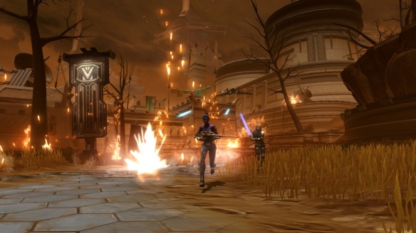 My agent and Lana Beniko in the first chapter of Star Wars: The Old Republic's Knights of the Eternal Throne expansion