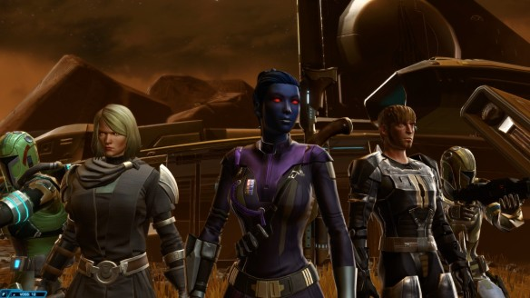 My agent and her allies in the first chapter of Star Wars: The Old Republic's Knights of the Eternal Throne expansion