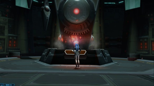 Vette studies alien technology in Star Wars: The Old Republic's Knights of the Eternal Throne expansion
