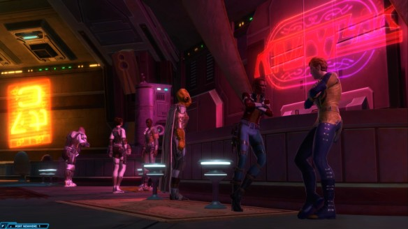 My smuggler meeting in Port Nowhere  in Star Wars: The Old Republic