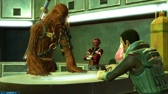 My smuggler and her companions  in Star Wars: The Old Republic
