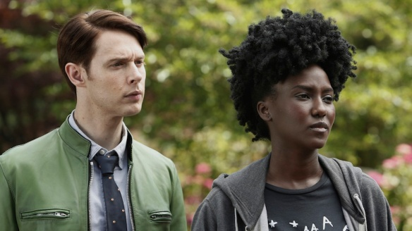 Farah Black and Dirk Gently in Dirk Gently's Holistic Agency