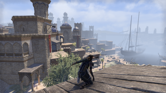 The city of Abah's Landing in Elder Scrolls Online's Thieves Guild DLC
