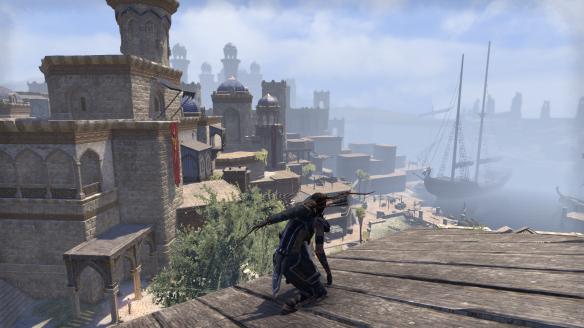 The city of Abah's Landing in Elder Scrolls Online's Thieves Guild DLC