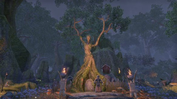 A shrine to the Green Lady in Elder Scrolls Online's Malabal Tor