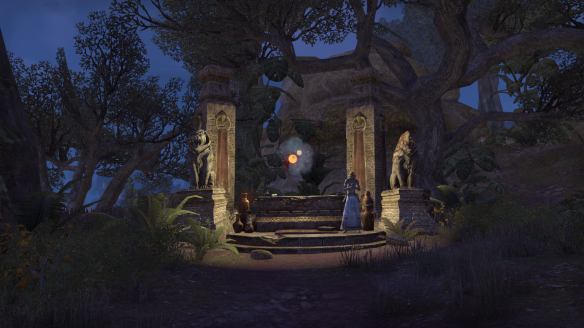 A Khajiiti shrine in Elder Scrolls Online