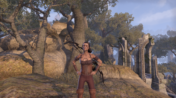 My Bosmer using the cheerful personality in Elder Scrolls Online