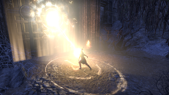 Opening an ancient tomb as part of the main quest in Elder Scrolls Online