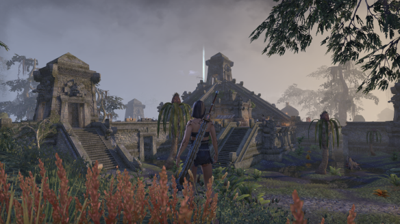 An Argonian town in Shadowfen in Elder Scrolls Online