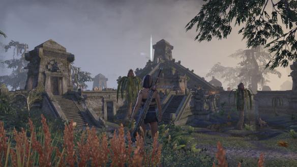An Argonian town in Shadowfen in Elder Scrolls Online