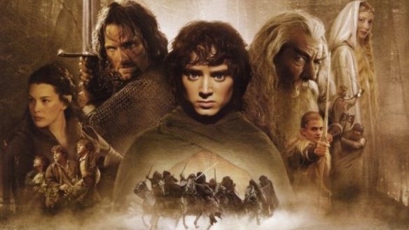 The poster for the Fellowship of the Ring movie