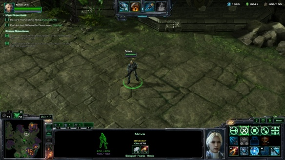 Co-op commander Nova in StarCraft II