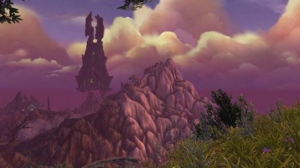 The haunted coasts of Azsuna at dusk in World of Warcraft: Legion