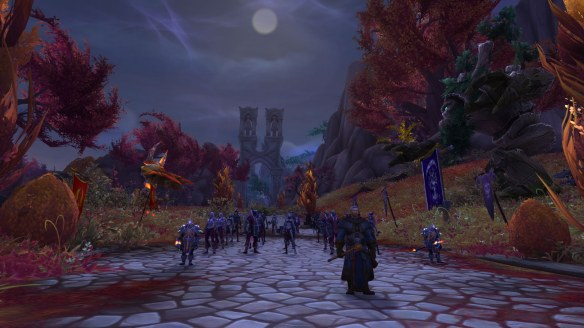 The forces of the Dusk Lily rebellion gather in World of Warcraft: Legion
