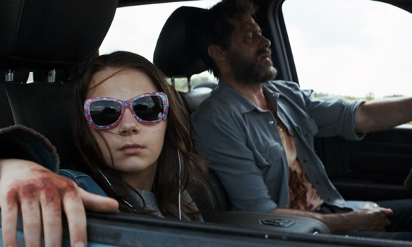 Laura and Wolverine in Logan