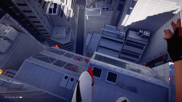 Leaping over the city in Mirror's Edge Catalyst