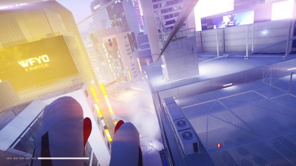 Ziplining over Glass in Mirror's Edge Catalyst